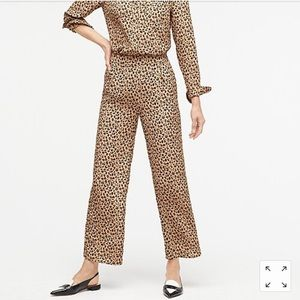 J. Crew Relaxed cropped pant in leopard print